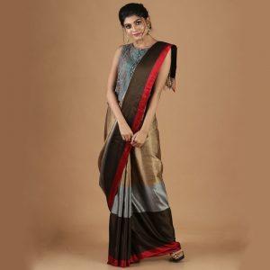 Exclusive Bangalore Silk Satin Saree Rare Weave