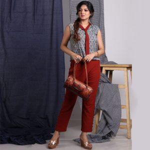 Santiniketani Embossed Batik Work Duffle Bag