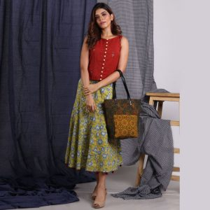 Ajrakh Print Cotton Bag