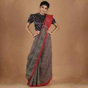Cotton Tie & Dye Saree
