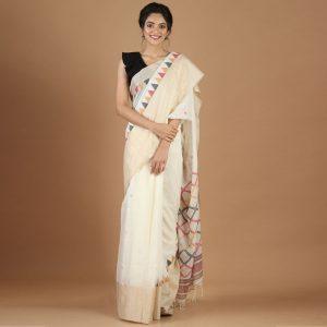 Bengal Twist Tasar Border Cotton Body Saree