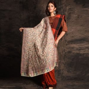 Kashmiri Pure Wool Woven Shawl