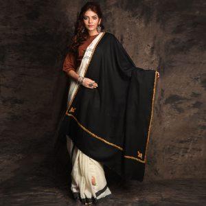 Kashmiri Sozni Pure Wool Shawl