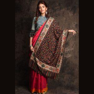 Kashmiri Woven Pure Wool Shawl