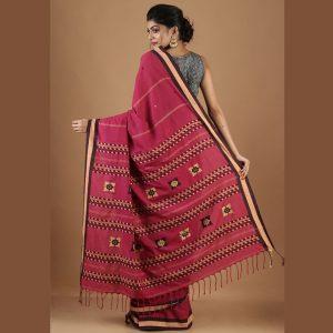 Assam Cotton Self Weaved Saree