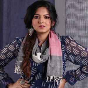 Multi Yarn Weave Khadi Stole