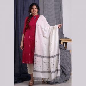 Khadi Jamdani Dupatta